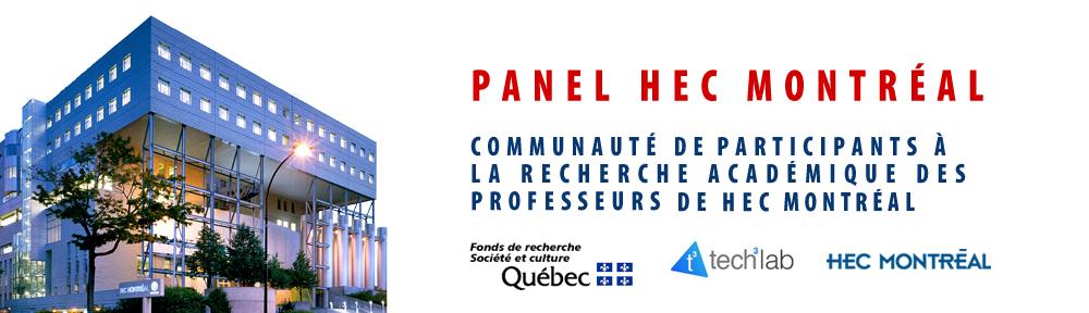 Panel HEC | Communauté de participants à la recherche universitaire des professeurs de HEC Montréal.